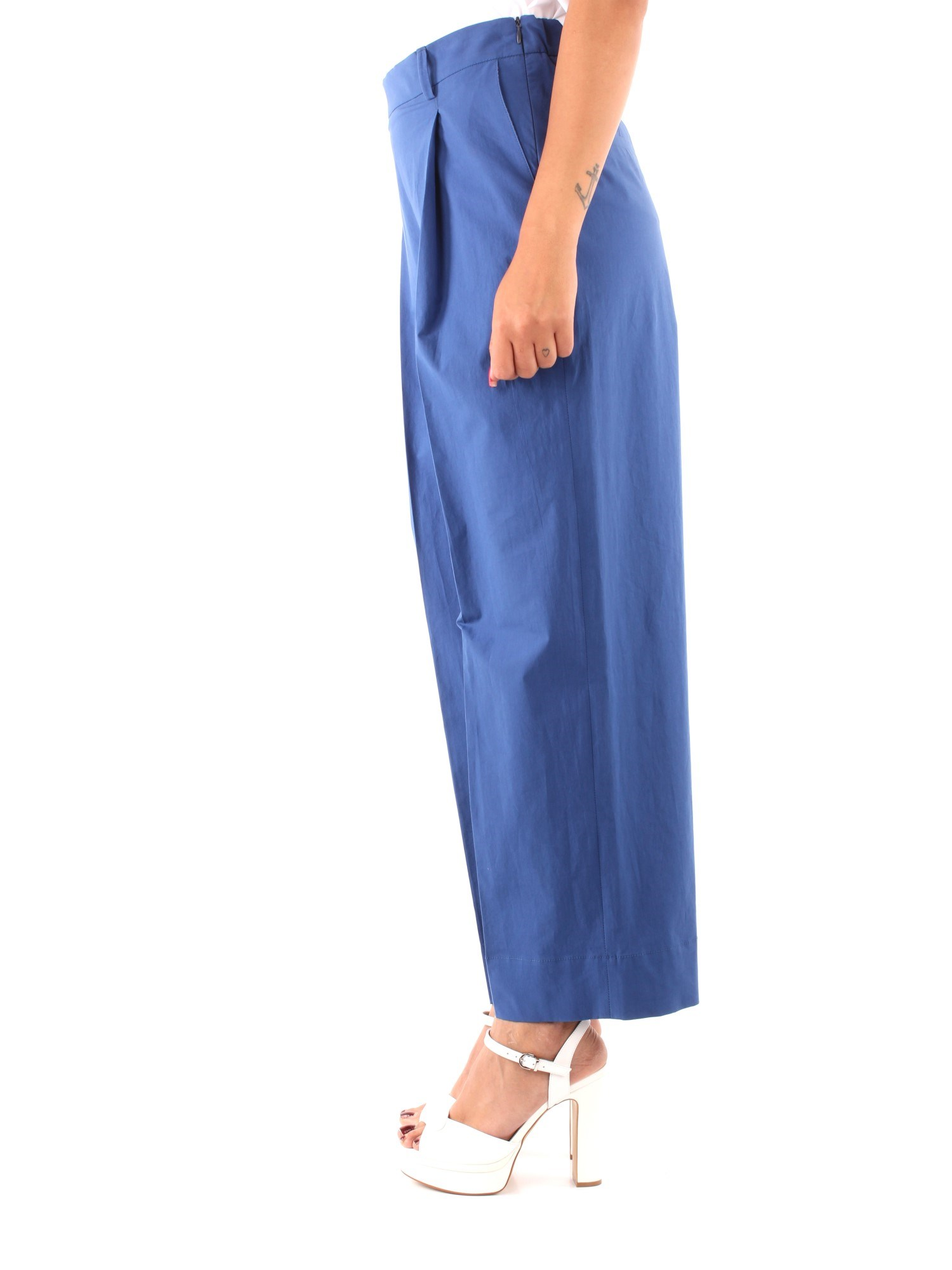 Niu' Clothing Woman Chino BLUE PE19201T07