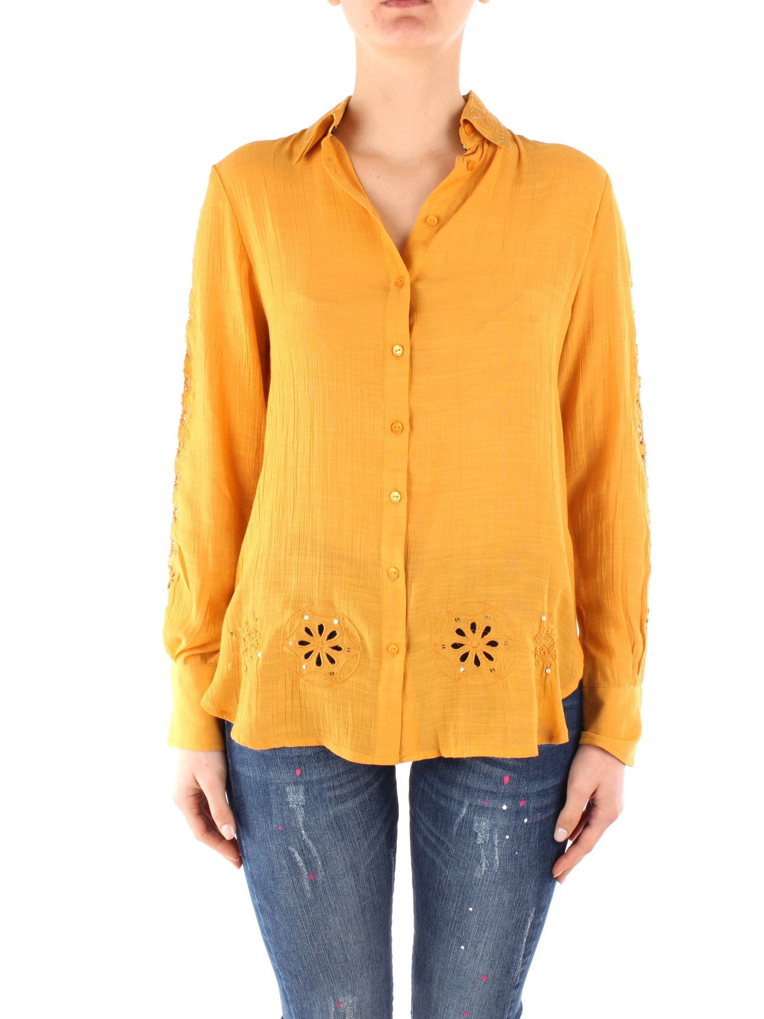 Desigual Clothing Woman Blouses YELLOW 20SWCW28