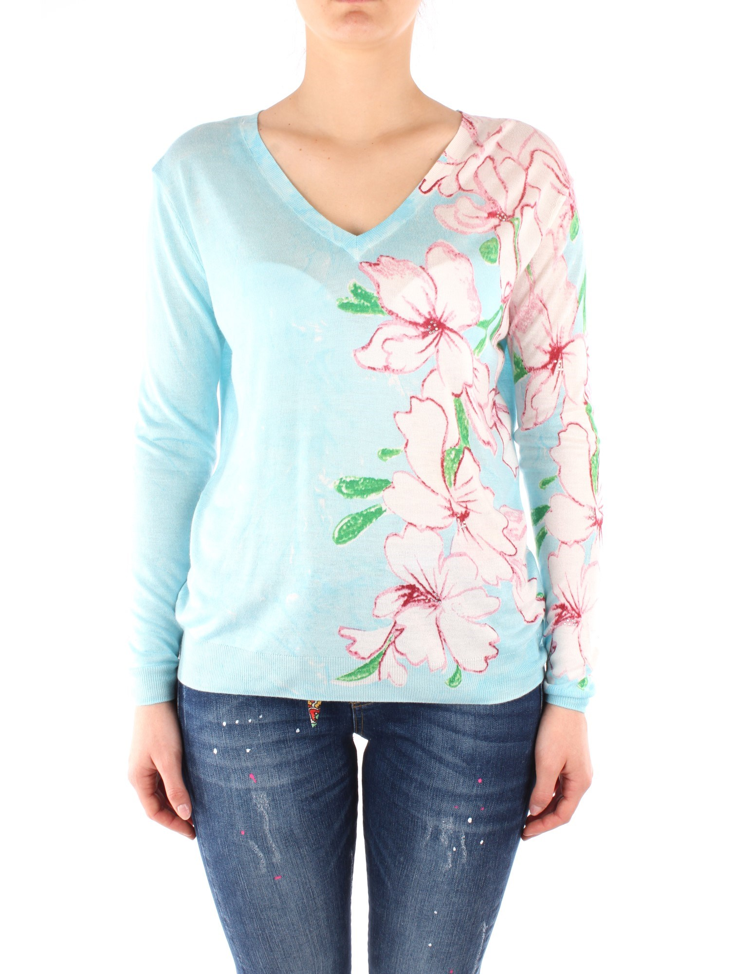 Desigual Clothing Woman Knitwear TURQUOISE 20SWJF90