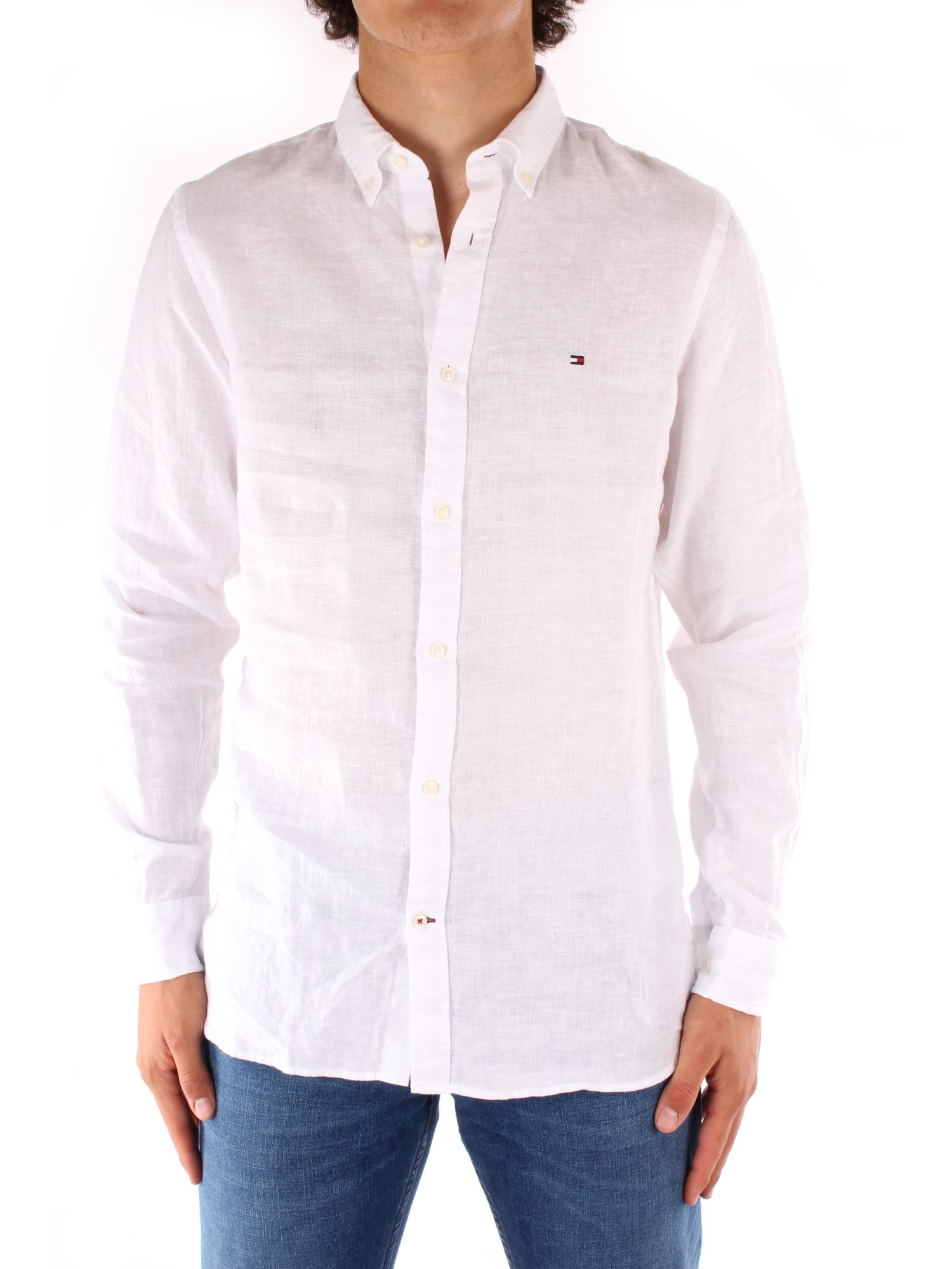 Tommy Hilfiger Clothing Man Shirts WHITE MW0MW13631