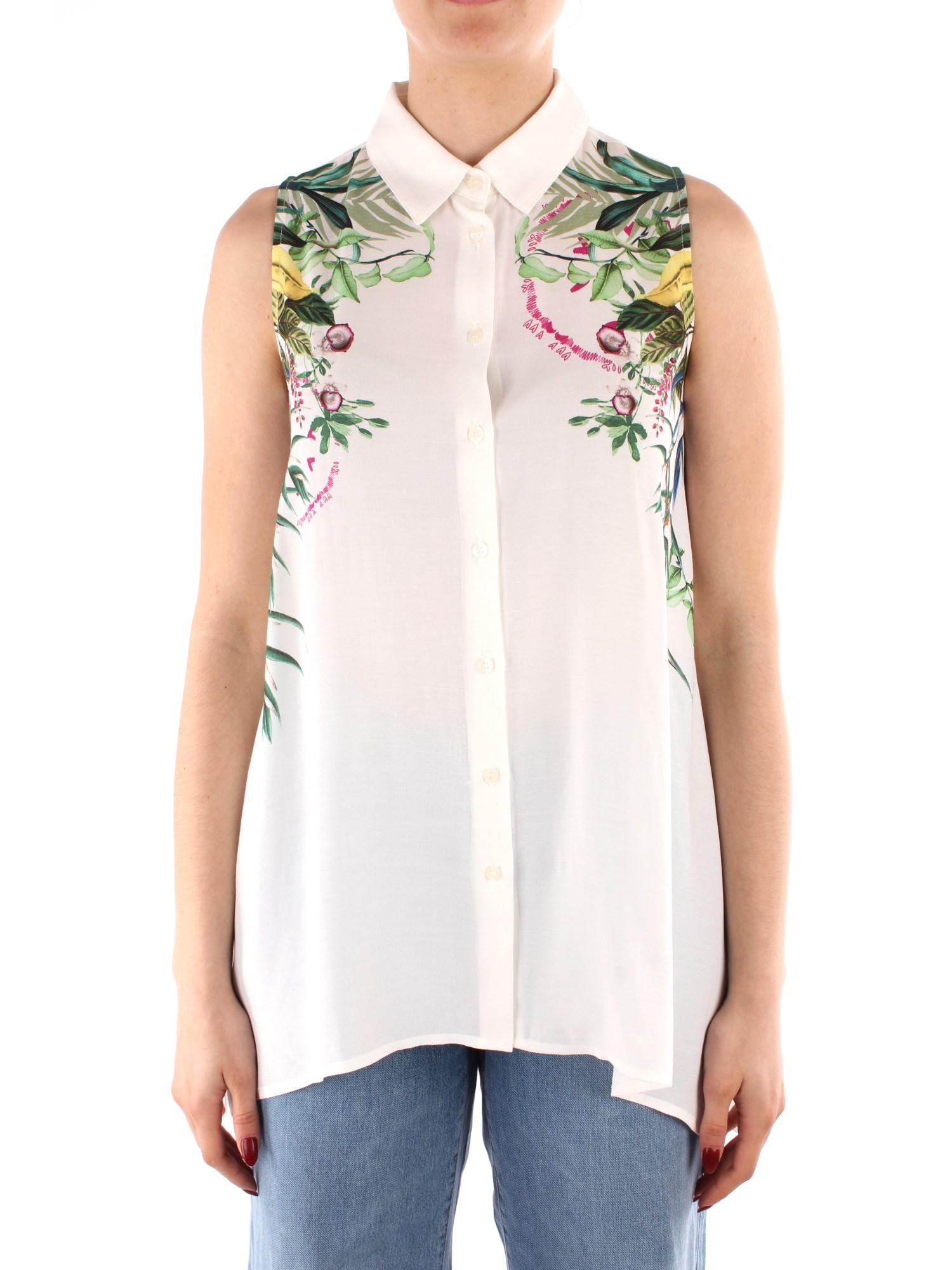 Desigual Clothing Woman Blouses WHITE 21SWCW02