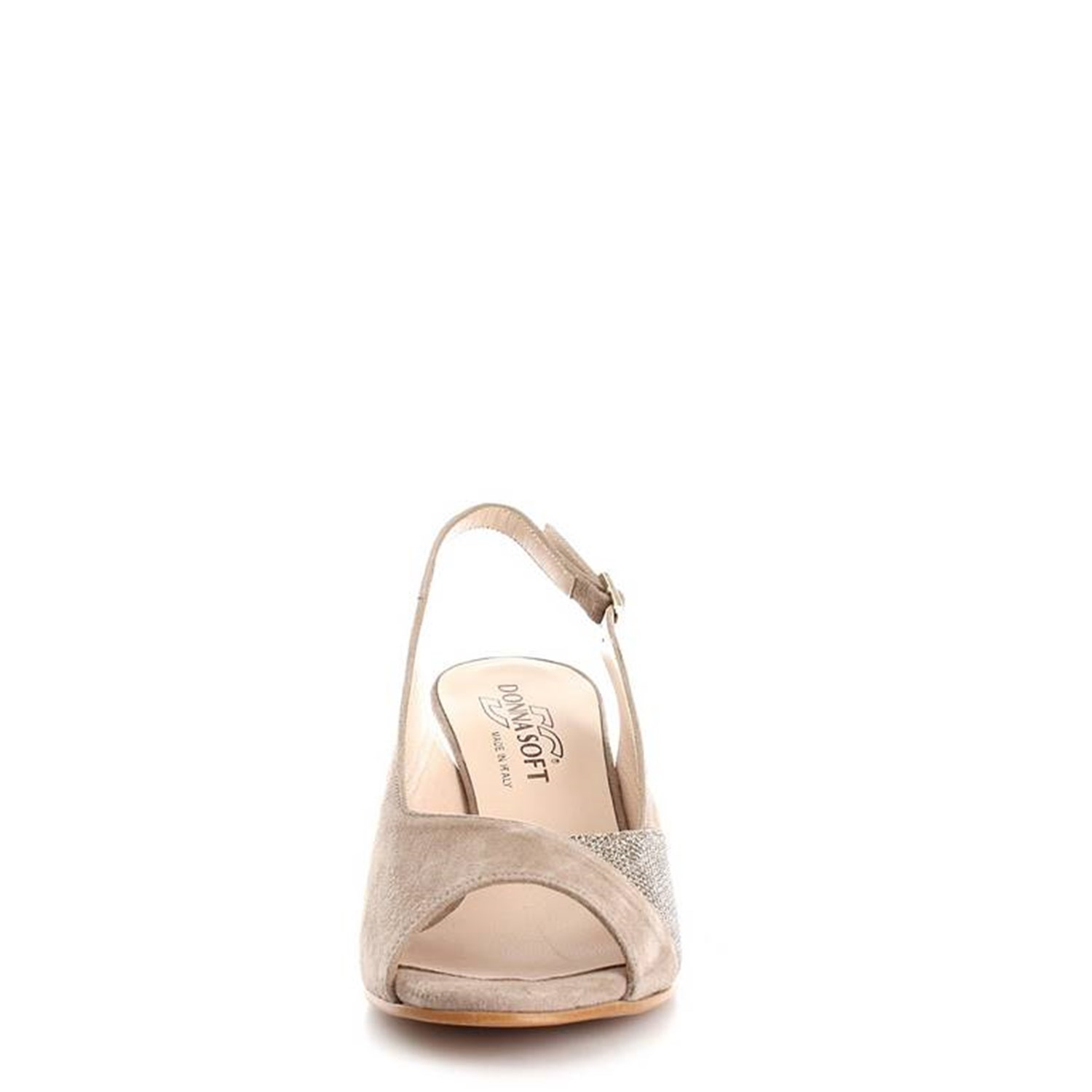 Donna Soft Shoes Woman With heel ECRU 6855A