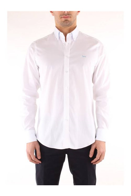 Harmont & Blaine SHIRT TWO FABRICS WHITE