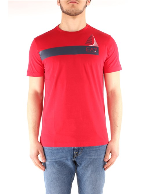 Ea7 Clothing Man Short sleeve RED 3GPT60