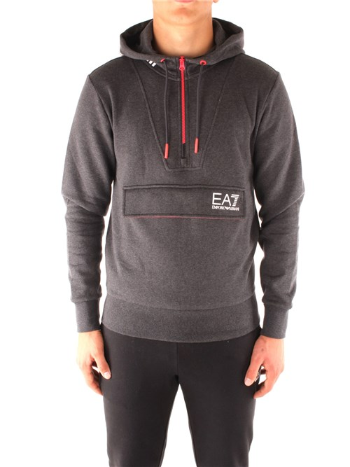 Ea7 Clothing Man Hooded BLACK 6GPM22