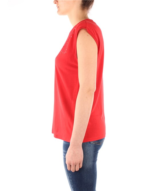 Desigual Clothing Woman Short sleeve RED 20SWTK90