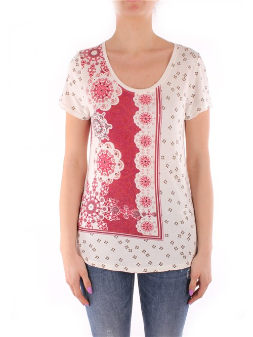 Desigual Clothing Woman Short sleeve BEIGE 21SWTK65